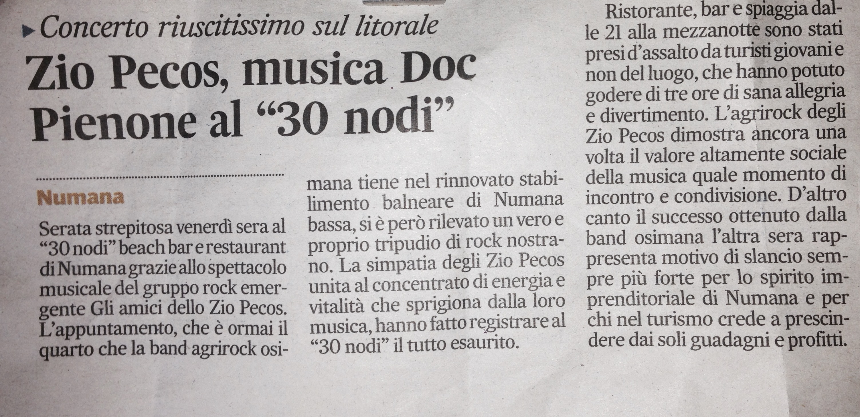 Corriere Adriatico – SOLD-OUT
